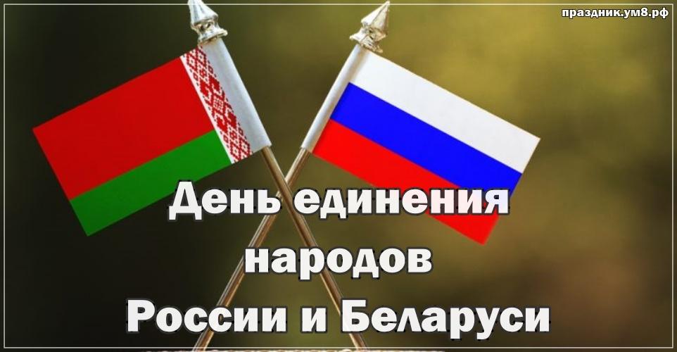 Скачать очаровательную картинку на день единения народов России и Баларуси! Отправить в вк, facebook!