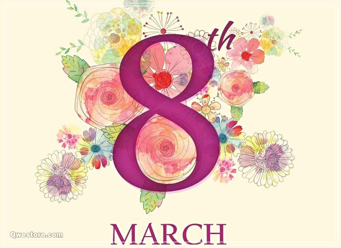 Скачать бесплатно искреннюю открытку на международный женский день (8 марта)! Для инстаграм!