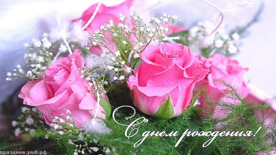 Скачать онлайн изумительную картинку с днём рождения женщине (цветы)! Поделиться в facebook!