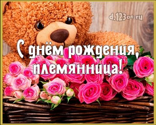 Скачать приятную картинку на день рождения лучшей племяннице в мире (поздравление d.123ot.ru)! Переслать в вайбер!