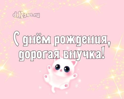 Скачать бесплатно первоклассную картинку на день рождения лучшей внучке в мире (поздравление d.123ot.ru)! Отправить на вацап!