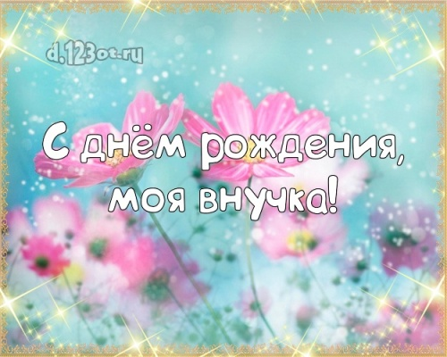 Скачать энергичную открытку на день рождения внучке, любимой внученьке! Проза и стихи d.123ot.ru! Отправить в instagram!