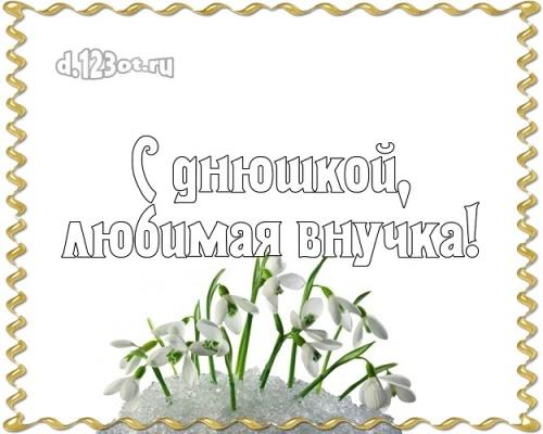 Скачать ослепительную картинку на день рождения лучшей внучке в мире (поздравление d.123ot.ru)! Переслать в telegram!
