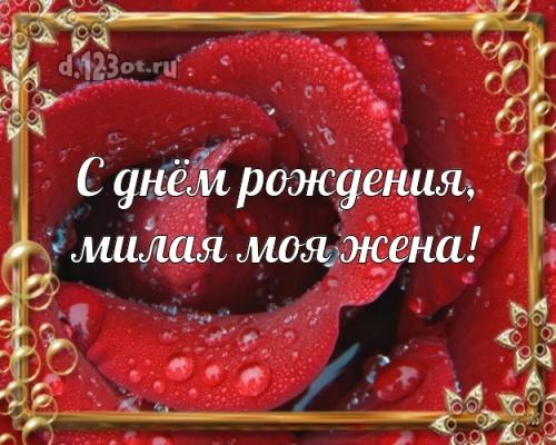 Скачать онлайн утонченную открытку на день рождения для любимой жене, женушке родной! С сайта d.123ot.ru! Переслать в вайбер!