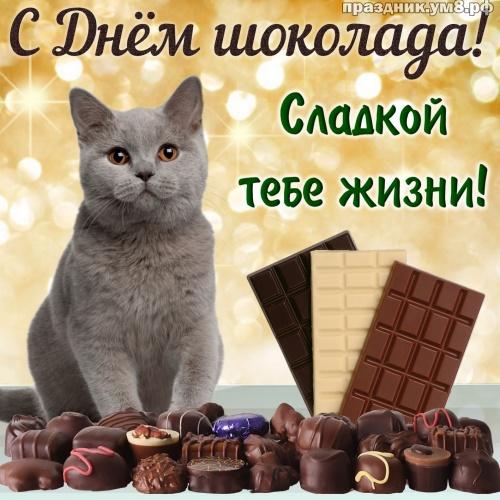 Скачать трепетную картинку на день шоколада, для друга или подруги! Красивые открытки с шоколадом! Поделиться в pinterest!