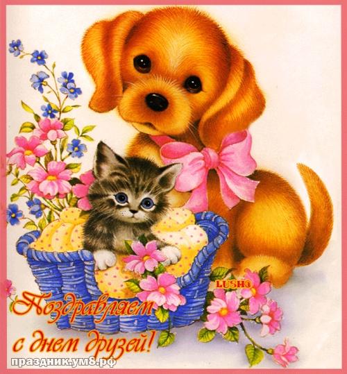 Скачать онлайн трогательную открытку на день дружбы (красивые открытки)! Пожелания своими словами друзьям! Отправить в instagram!