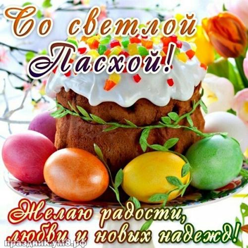 Скачать бесплатно драгоценную картинку на день светлой Пасхи (поздравление в прозе)! Христос воскресе! Поделиться в вацап!