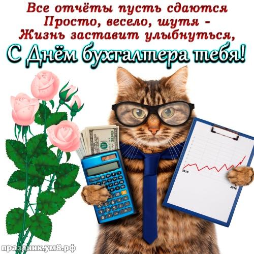 Скачать бесплатно таинственную открытку на день бухгалтера (красивые открытки на день добра)! Пожелания своими словами друзьям! Отправить в вк, facebook!