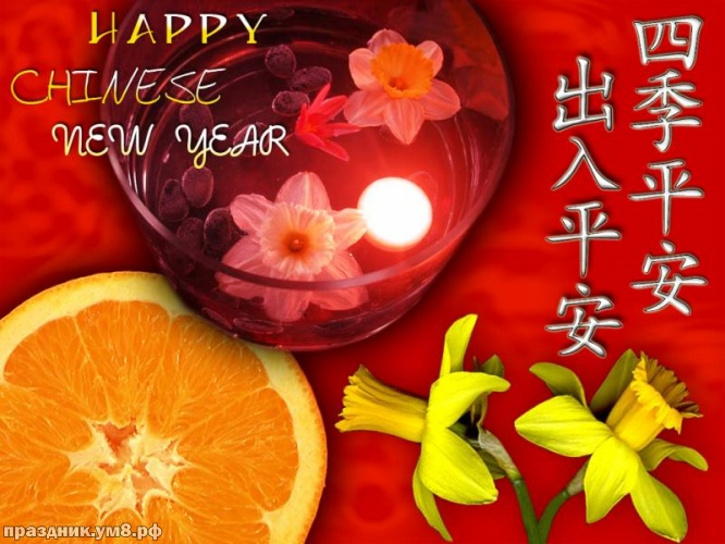 Скачать удивительную картинку с китайским новым годом, ура! Красивые пожелания! Для инстаграм!