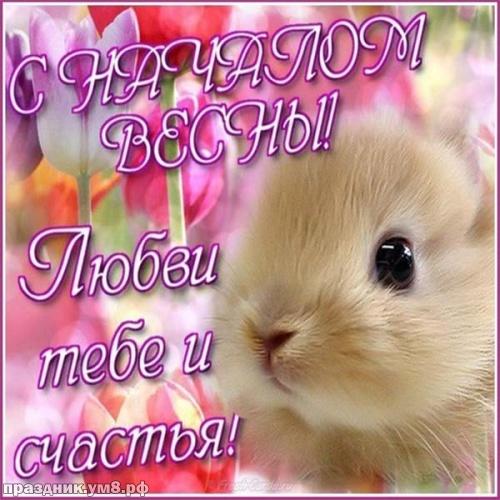 Скачать онлайн чудодейственную картинку с первым днём весны! Примите поздравления, милые друзья! Переслать в вайбер!