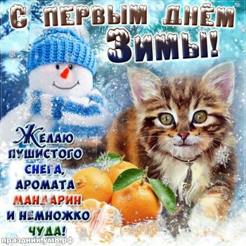 Скачать исключительную картинку с первым днём зимы, открытки зима, картинки с зимушкой, 1 декабря! Переслать в telegram!