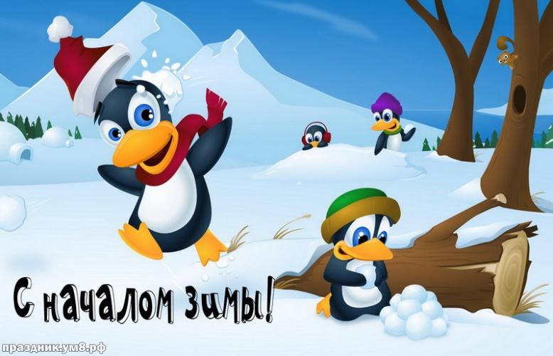 Скачать бесплатно восторженную картинку (открытки с первым днём зимы, картинки с первым днём зимы, 1 декабря) с праздником, друзья! Переслать в пинтерест!