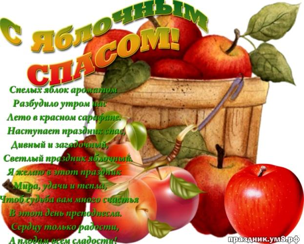 Найти отпадную картинку с яблочным спасом, дорогие друзья! Для инстаграм!