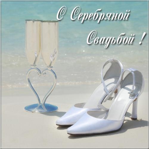 С серебряной свадьбой 25 лет